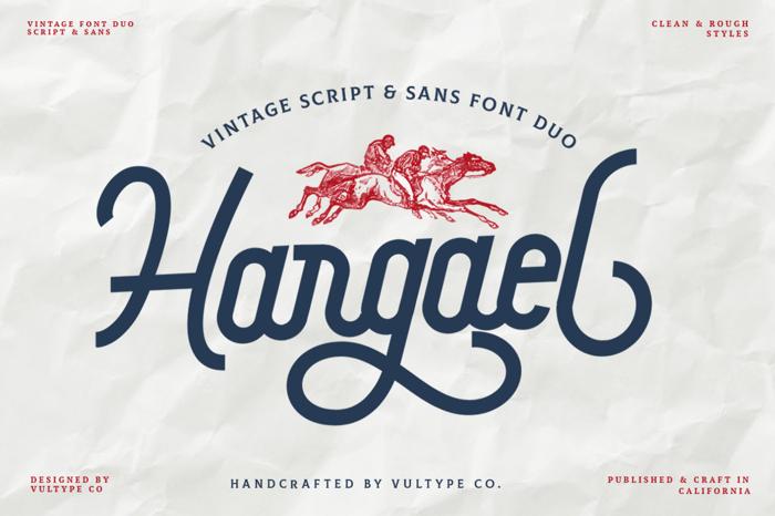 Hargael Font poster