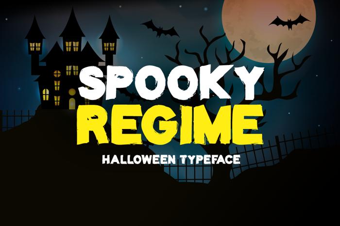Spooky Regime Font poster