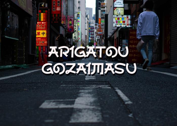a Arigatou Gozaimasu Font poster