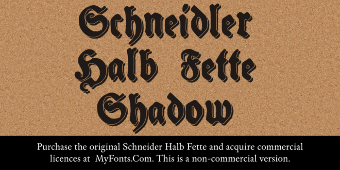 Schneidler Halb Fette Shadow Font poster