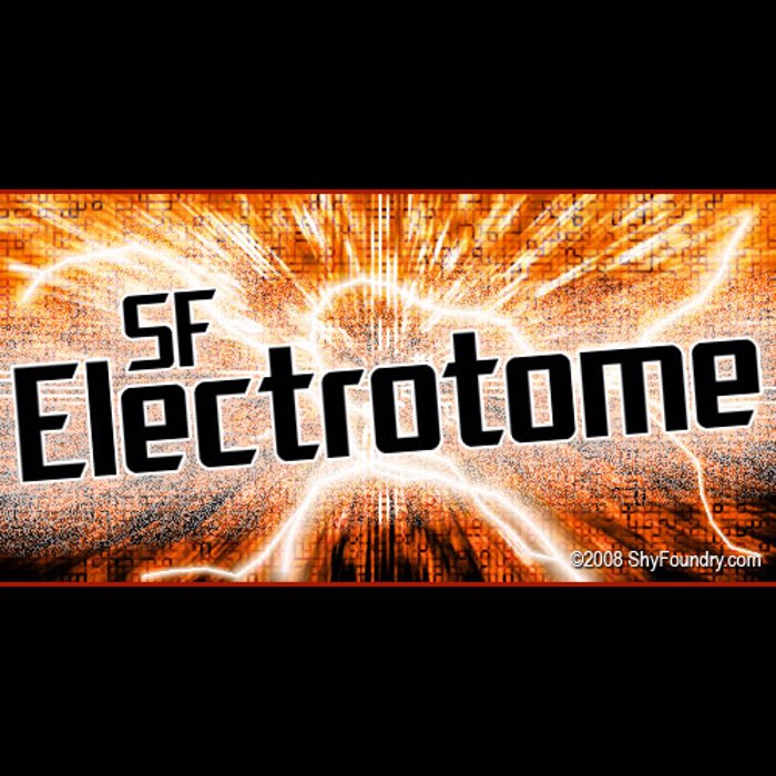 SF Electrotome Font poster