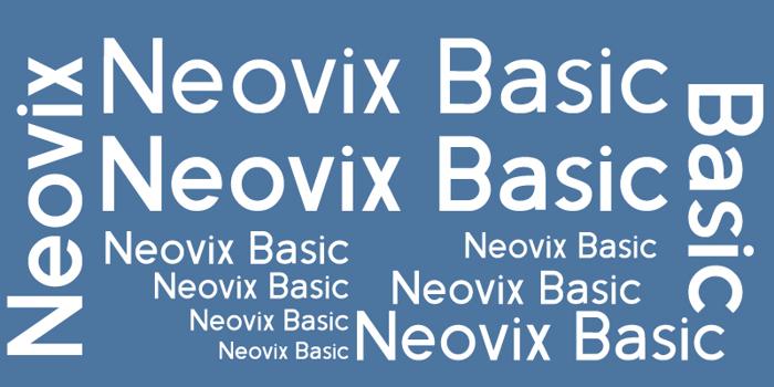 Neovix Basic Font poster