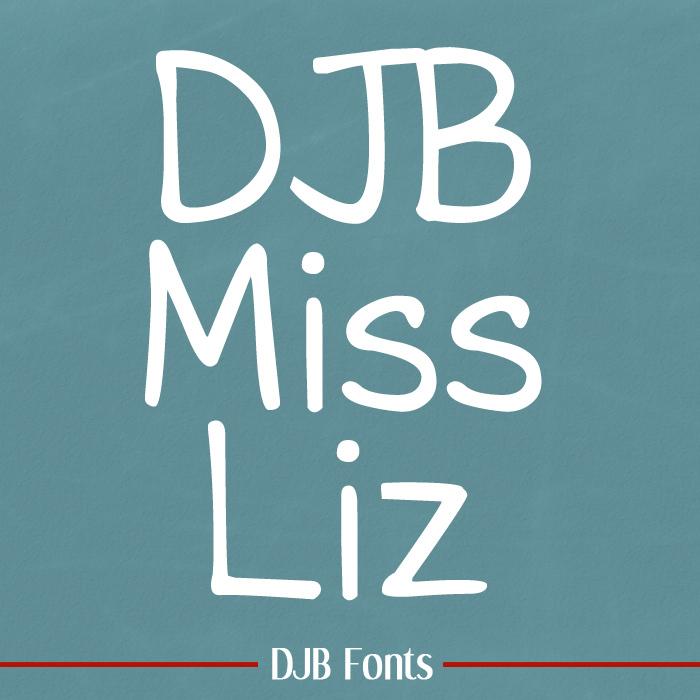 DJB Miss Liz Font poster