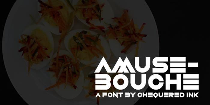 Amuse-Bouche Font poster