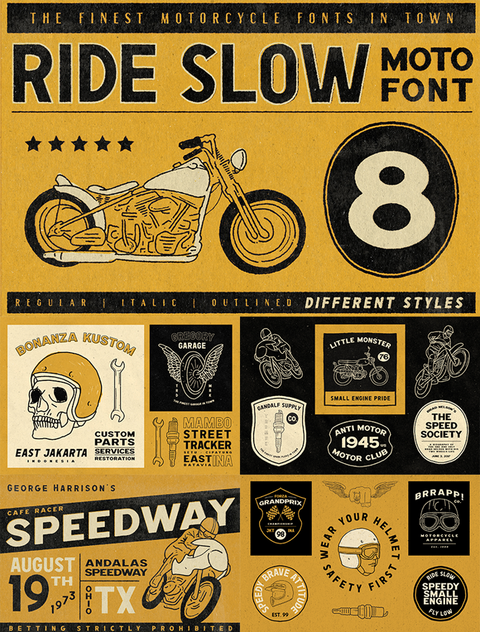 Ride Slow Font poster
