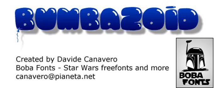 Bumbazoid Font poster