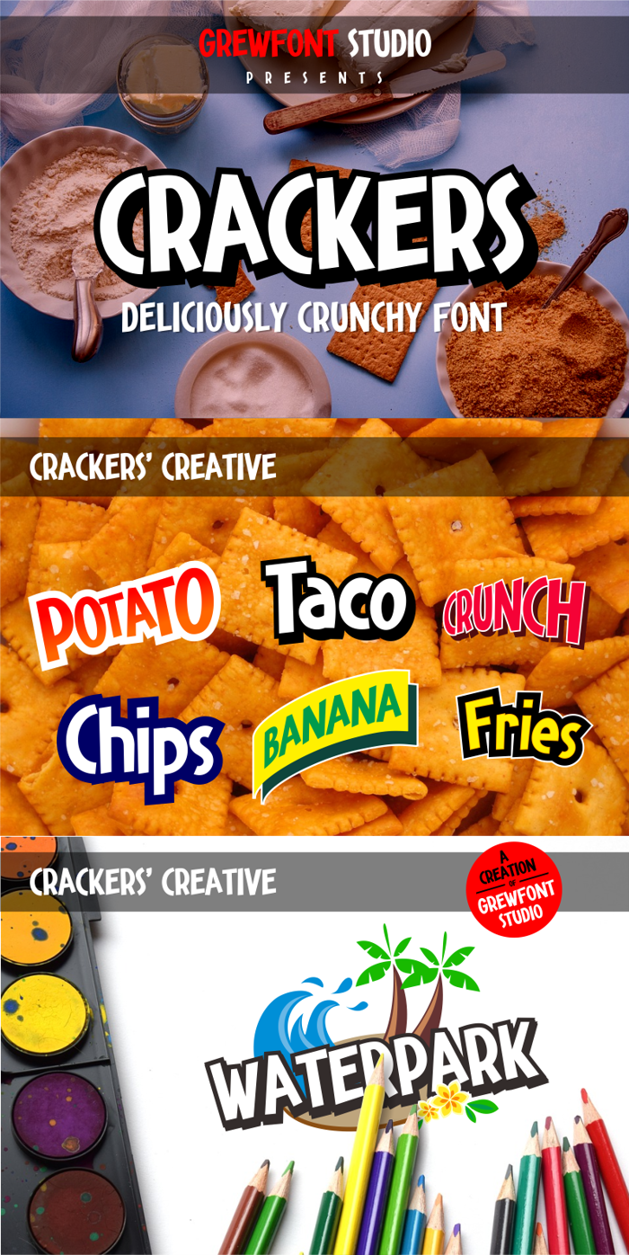 Crackers Font poster