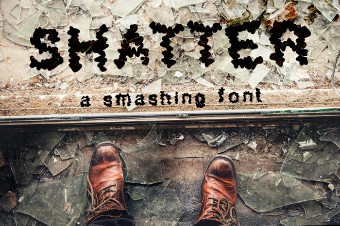 Shatter Font poster