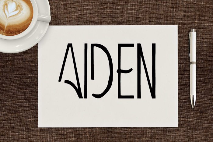 Aiden Font poster