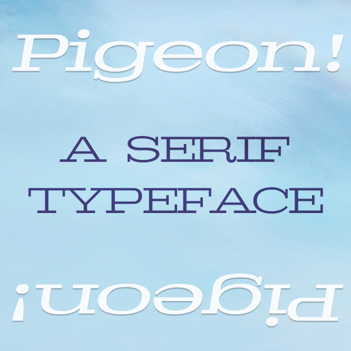 Pigeon Font poster