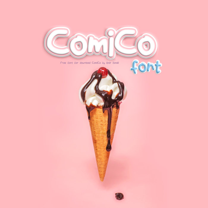 ComiCo Font poster