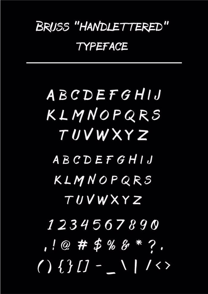 Bruss Font poster