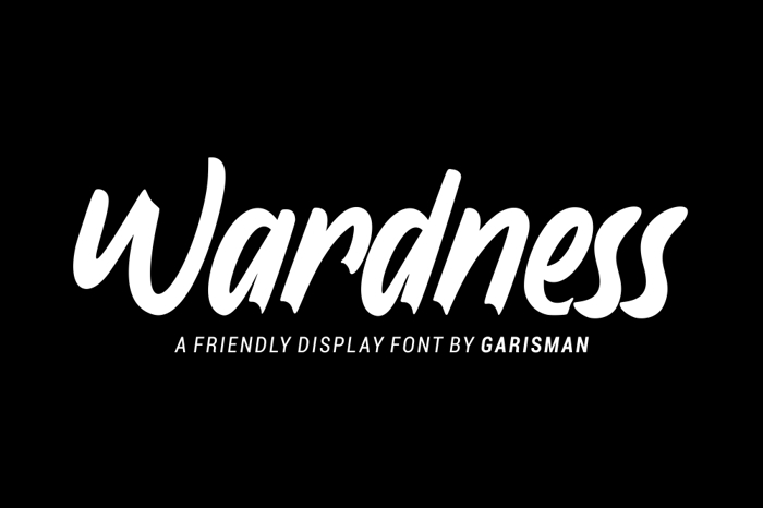 Wardness Font poster