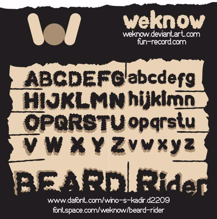 BEARD Rider Font poster