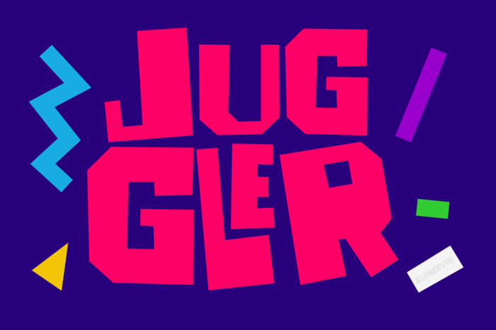 JUGGLER Font poster