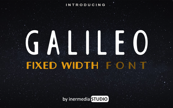 GALILEO FIXED Font poster