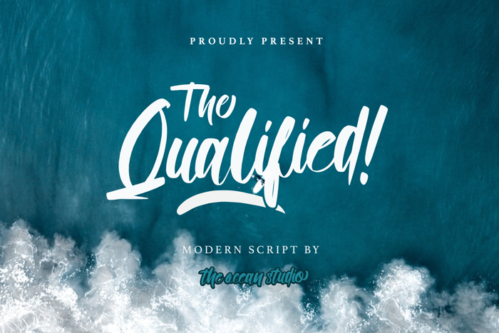 Qualified Font poster