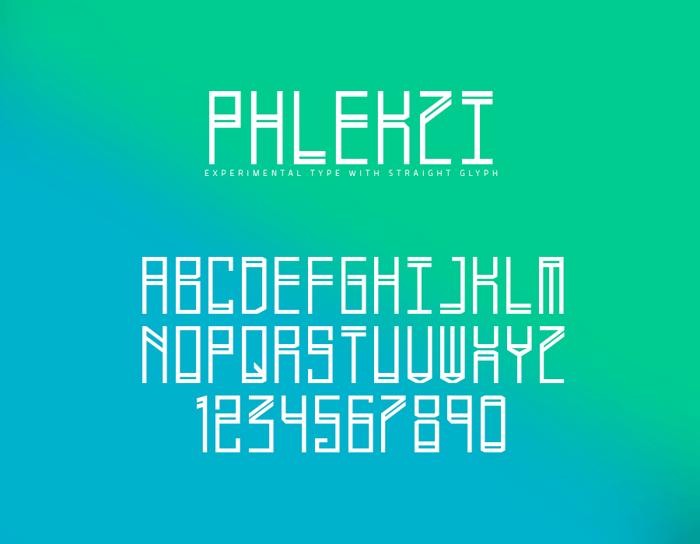Phlekzi Font poster