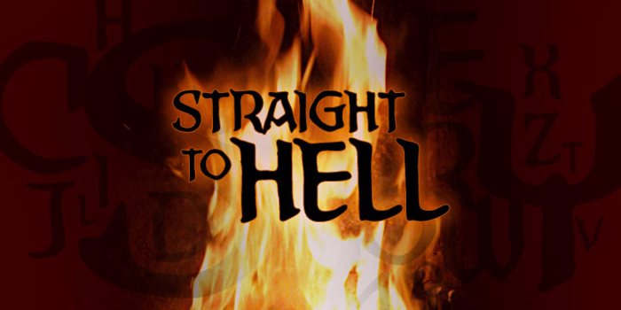 Straight To Hell BB Font poster