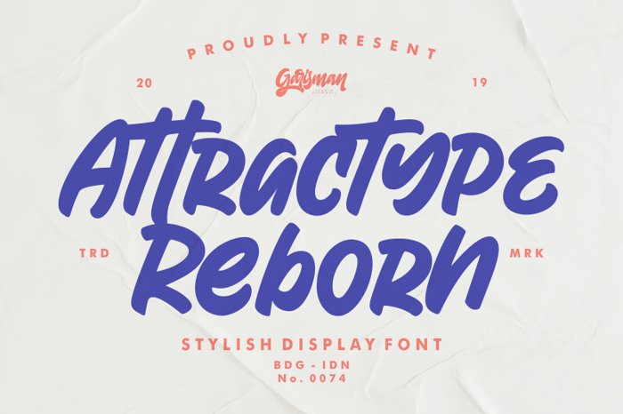 Attractype Reborn Font poster