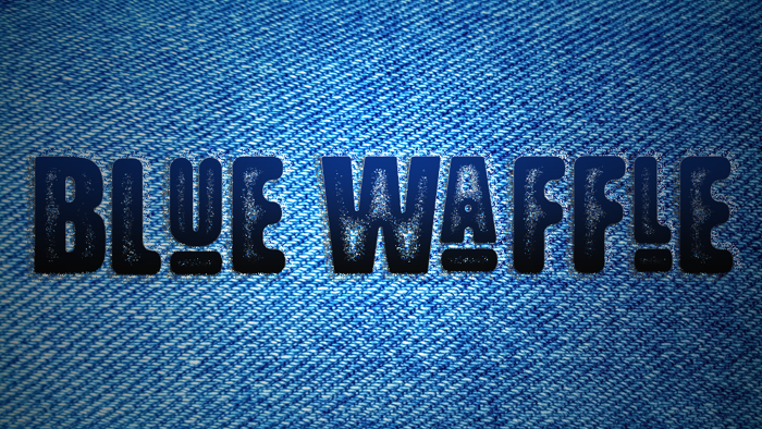 Blue Waffle Font poster