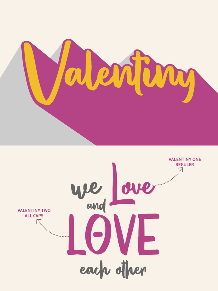 Valentiny Font poster