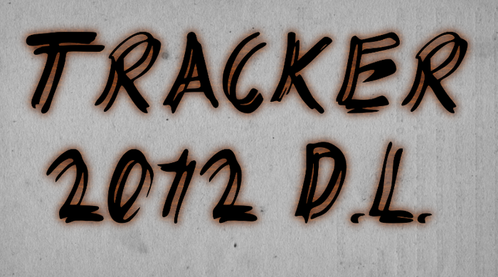 TRACKER Font poster