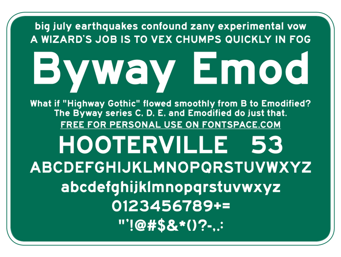 BywayEMod Font poster