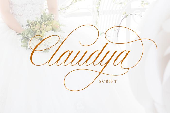 Claudya Script Demo Font poster