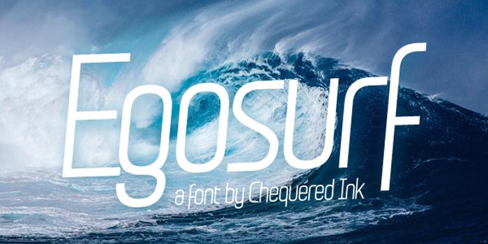 Egosurf Font poster