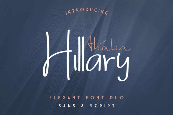 Thalia Hillary Sans Font poster