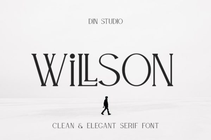 WILLSON Font poster