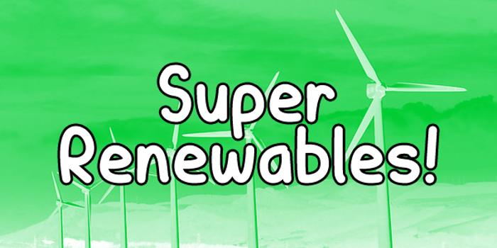 Super Renewables Font poster