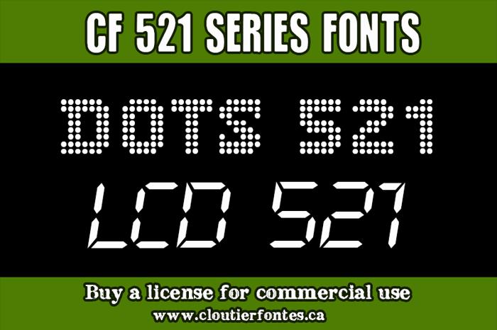 CF Dots 521 Font poster