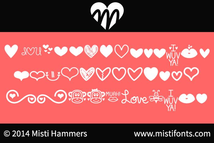 MF Love Dings Font poster