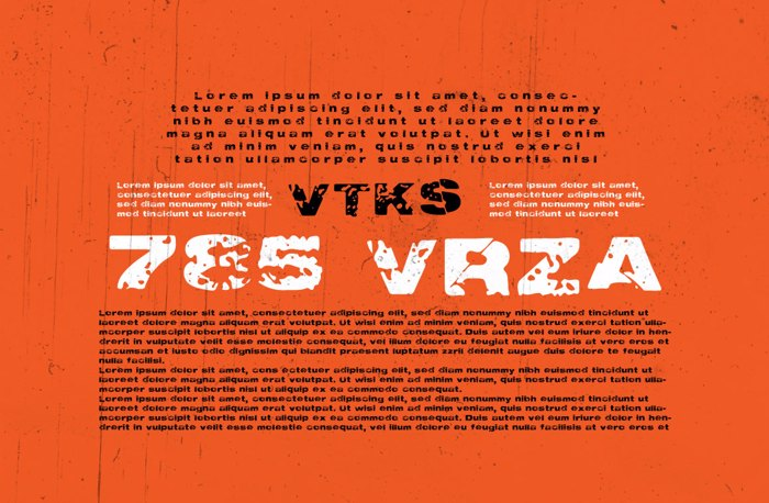 Vtks 785 VRZA Font poster
