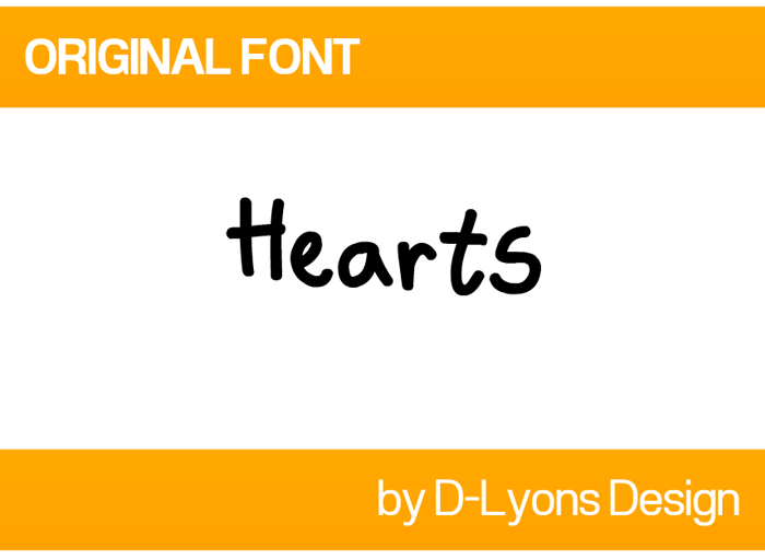 Hearts Font poster