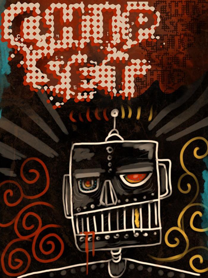 VTKS CHIP SET Font poster