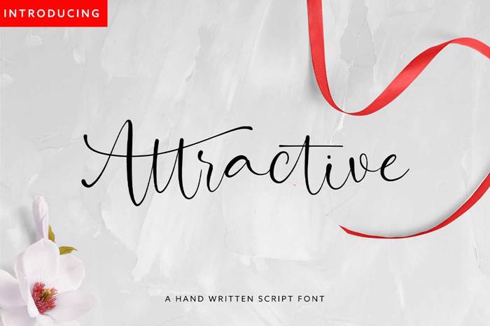 Attractive Font poster