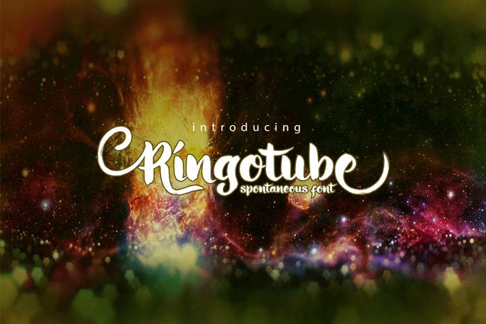 Ringotube Font poster
