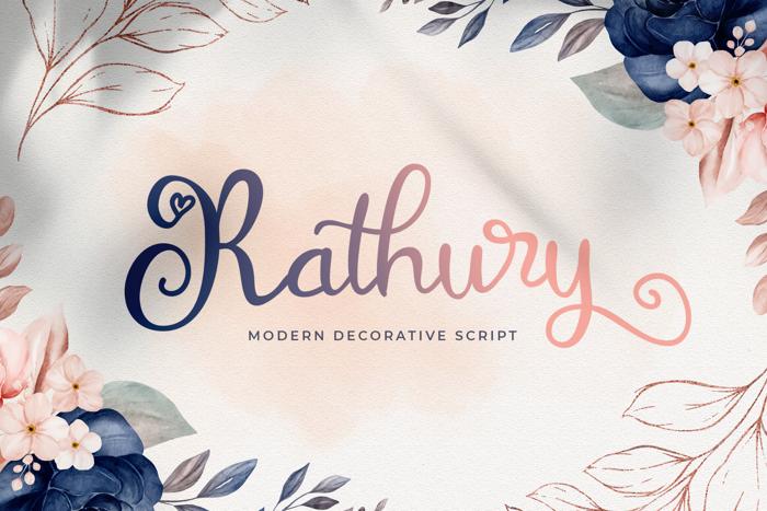 Rathury Font poster