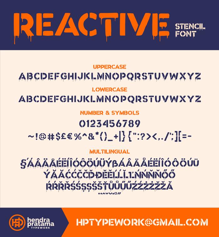Reactive poster