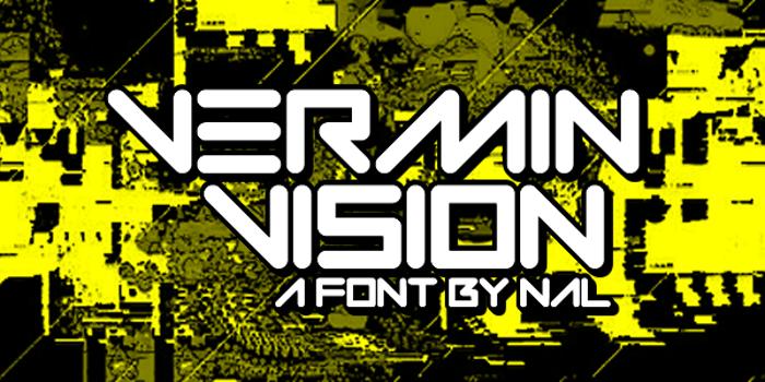 Vermin Vision Font poster