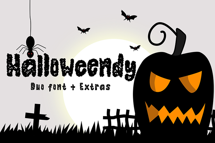Halloweendy Rough Font poster