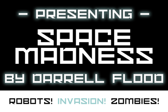 Space Madness Font poster