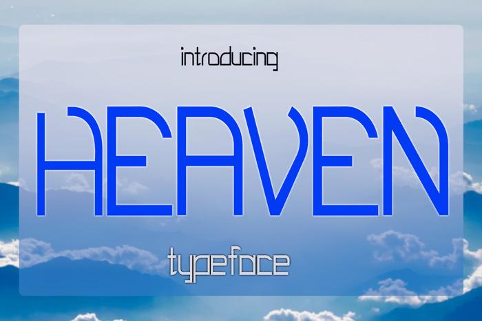 EP Heaven Font poster