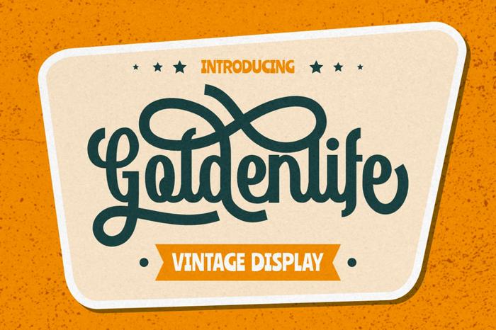 Goldenlife Font poster