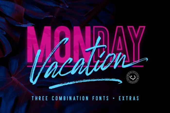 Monday Vacation Font poster