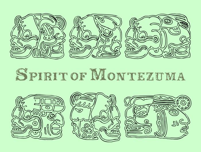 Spirit of Montezuma Font poster