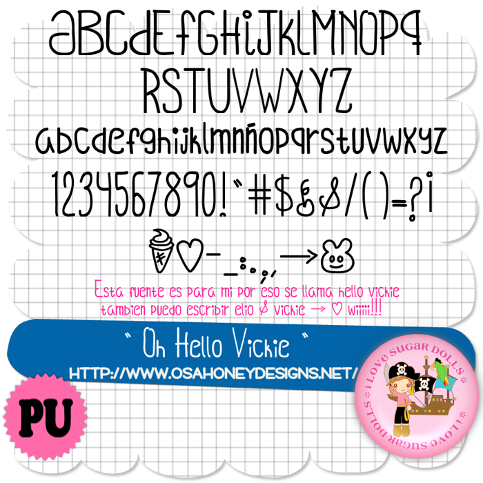 Oh_Hello_Vickie Font poster